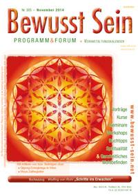 Cover Bewusst Sein, Ausgabe 305 - November 2014