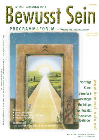 Cover Bewusst Sein, Ausgabe 313 - September 2015