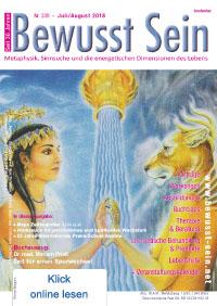 Cover Bewusst Sein, Ausgabe 339 - Juli/August 2018