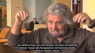 Ausschnitt aus Video: Beppe Grillo im Interview