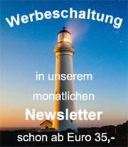 Werbung im monatlichen Newsletter